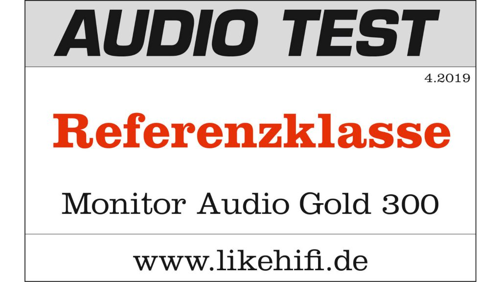 Testlogo Monitor Audio Gold 300 5G AUDIO TEST