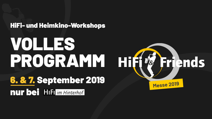 "Banner ""HiFi & Friends"" 2019 bei HiFi im Hinterhof in Berlin"