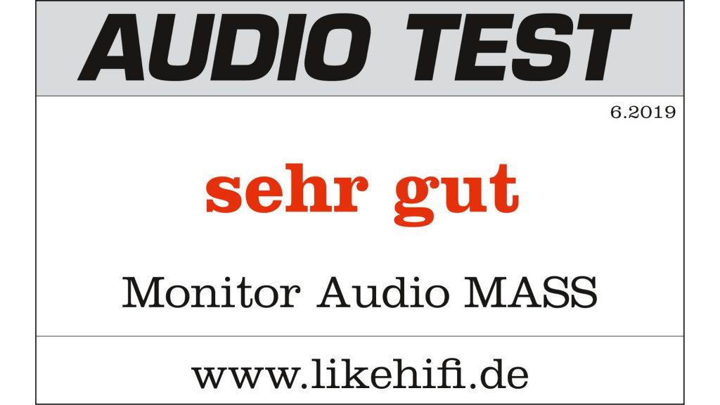 Testergebnis Monitor Audio MASS 2G AUDIO TEST 06/2019