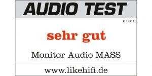 Testergebnis Monitor Audio MASS 2G AUDIO TEST 06-2019
