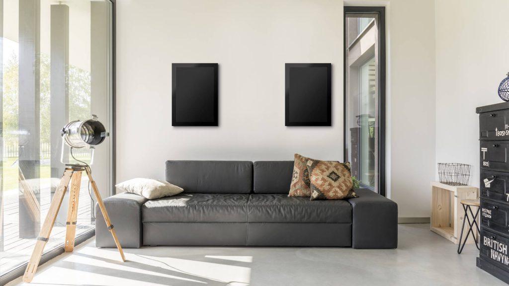Monitor Audio Custom Install-Lautsprecher im Wohnzimmer
