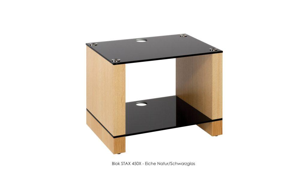 Blok STAX 450X Eiche Natur - Schwarzglas