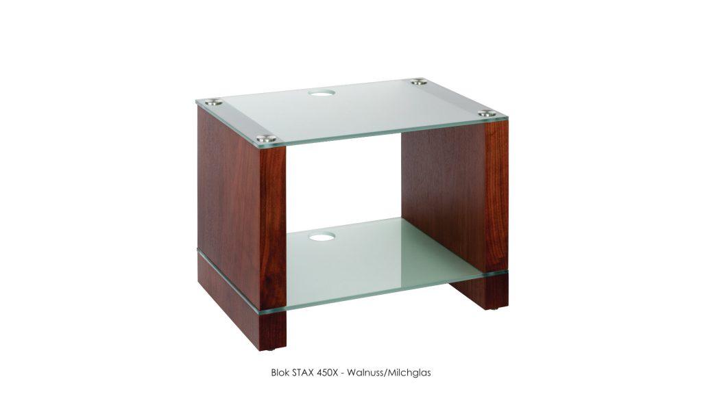 Blok STAX 450X Walnuss - Milchglas