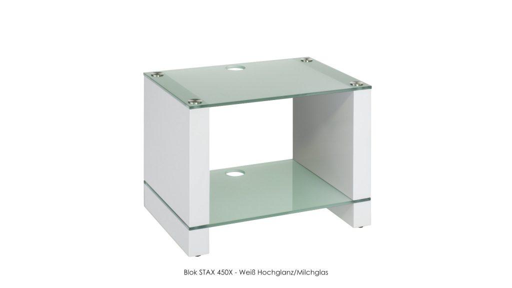 Blok STAX 450X Weiß Hochglanz - Milchglas
