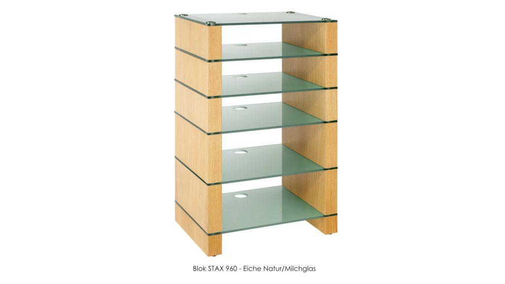 Blok STAX 960 Eiche Natur - Milchglas