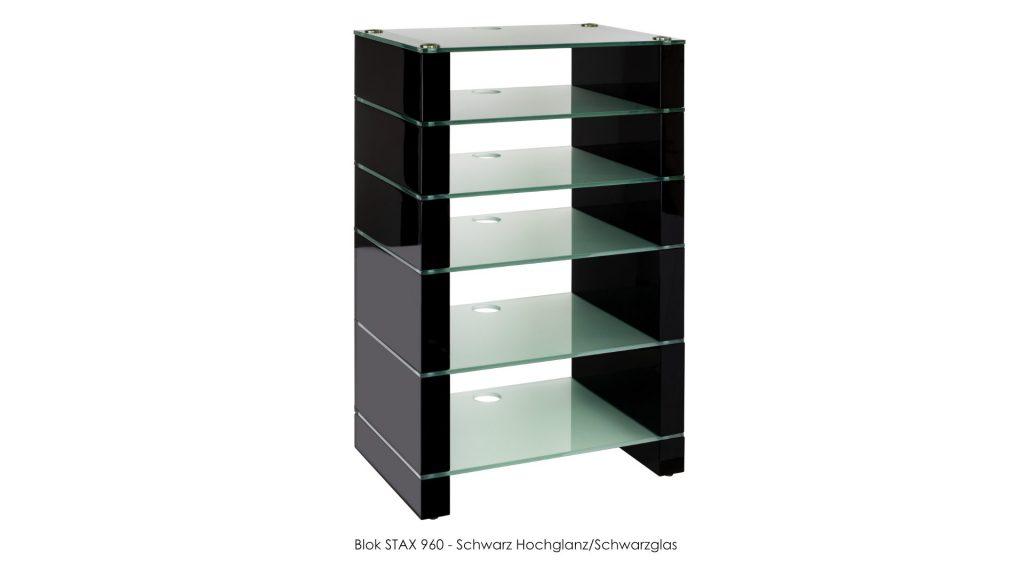 Blok STAX 960 Schwarz Hochglanz - Milchglas