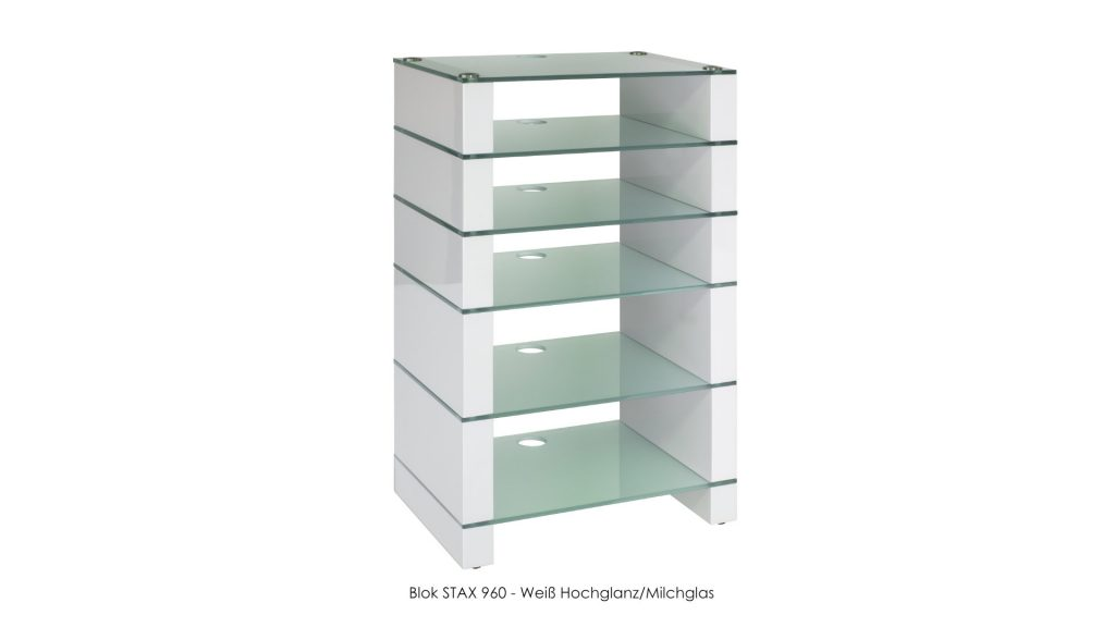 Blok STAX 960 Weiß Hochglanz - Milchglas