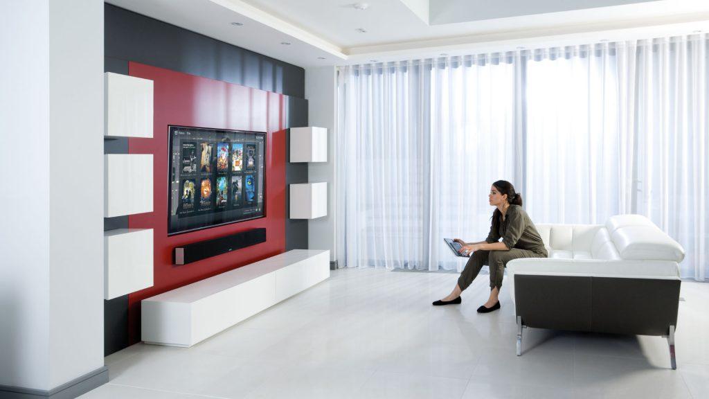 Monitor Audio Soundbar SB-3 im Wohnzimmer