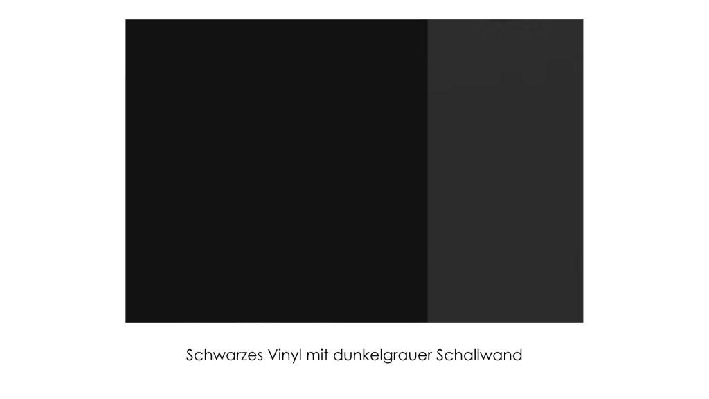 Schwarzes Vinyl mit grauer Schallwand