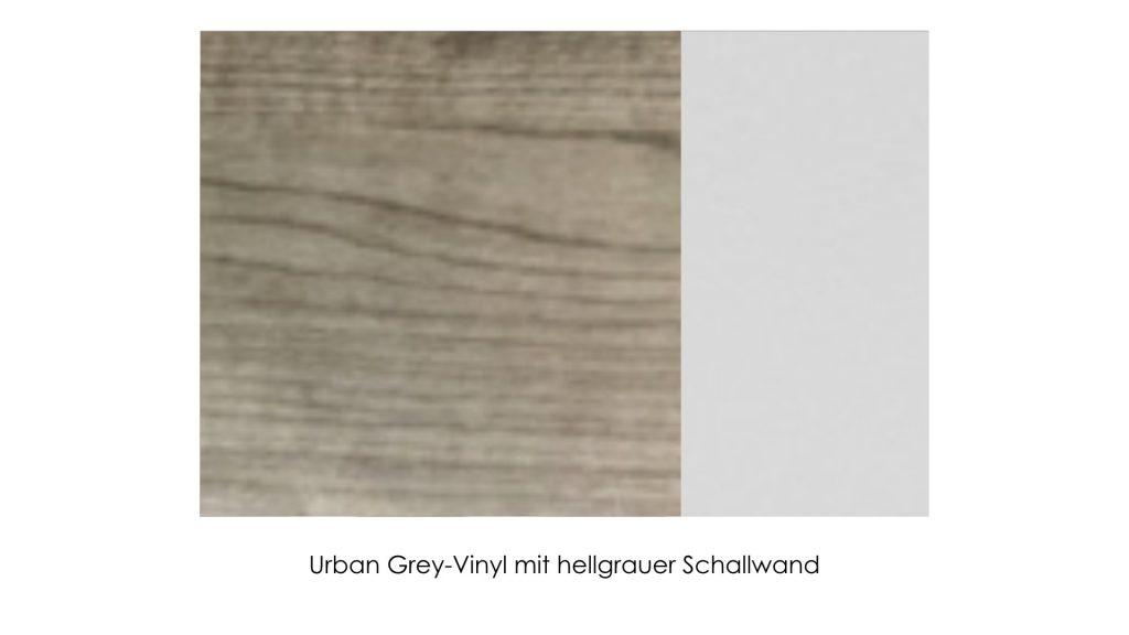 Urban Grey-Vinyl mit hellgrauer Schallwand