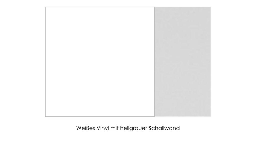Weißes Vinyl mit hellgrauer Schallwand