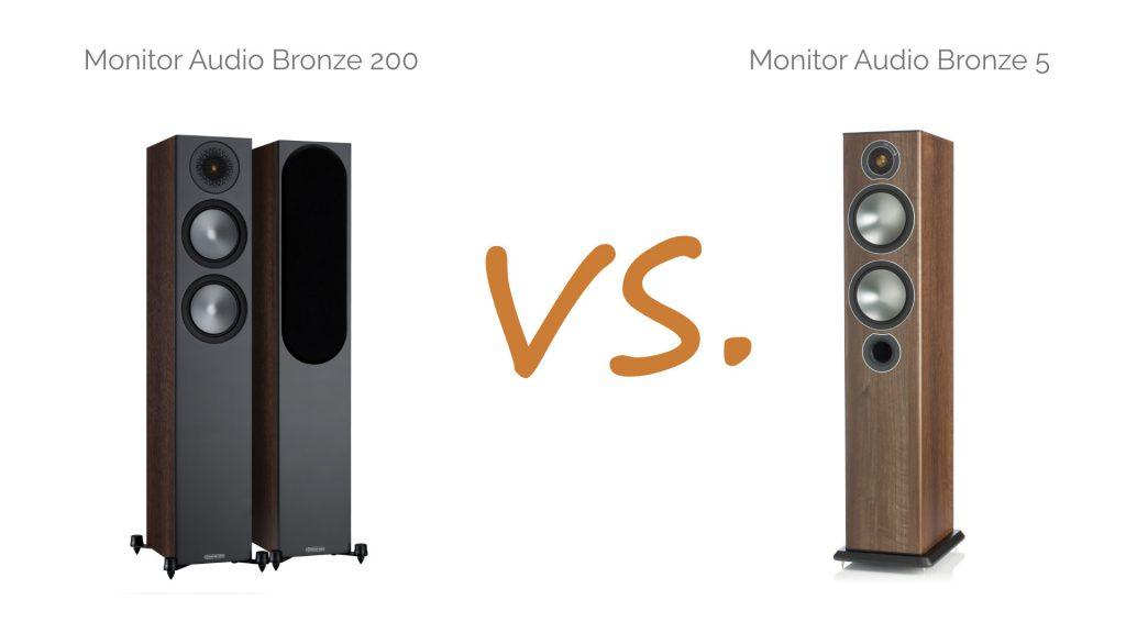 Monitor Audio Bronze 200 vs. Bronze 5