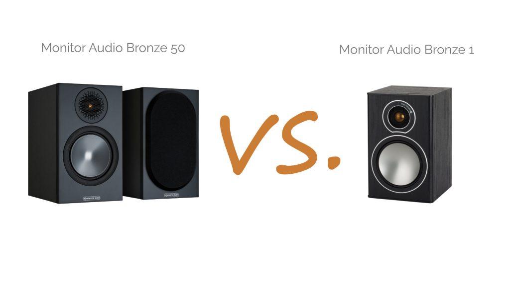 Monitor Audio Bronze 50 vs. Bronze 1