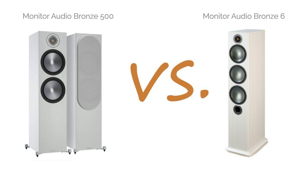 Monitor Audio Bronze 500 vs. Bronze 6
