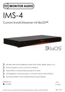 Monitor Audio IMS-4-Datenblatt