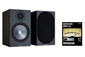 Monitor Audio Bronze 100 mit Bewertungssiegel LowBeats.de Beitragsbild
