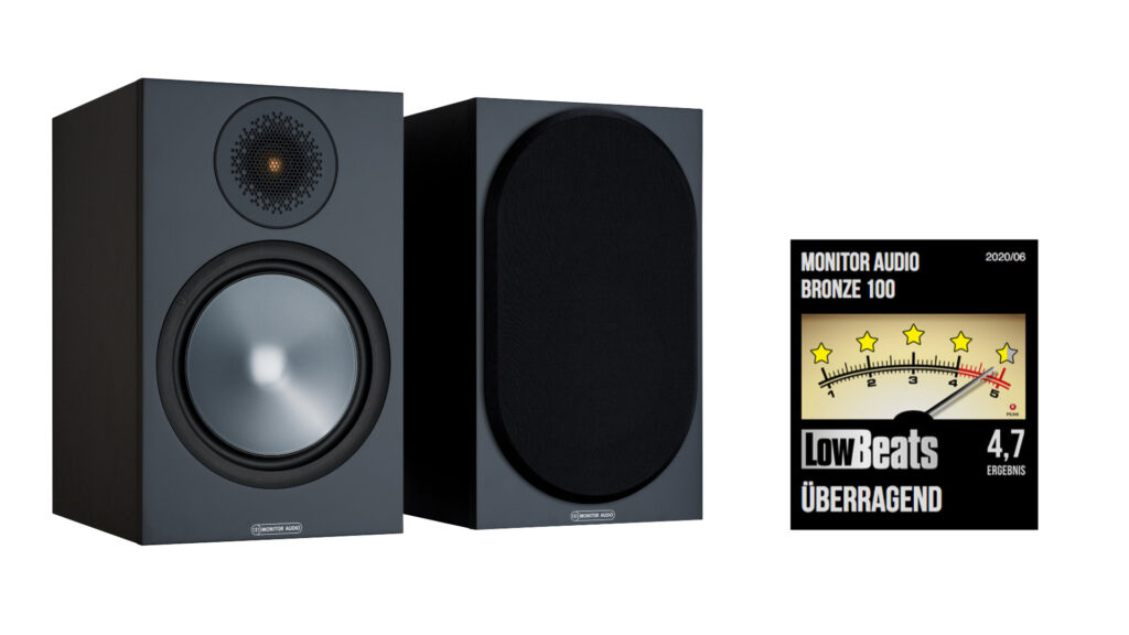 Monitor Audio Bronze 100 mit Bewertungssiegel LowBeats.de