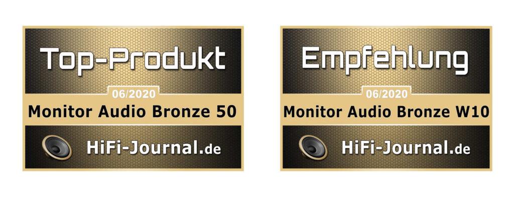 Bronze 50 + W10 HiFi-Journal Auszeichnungen