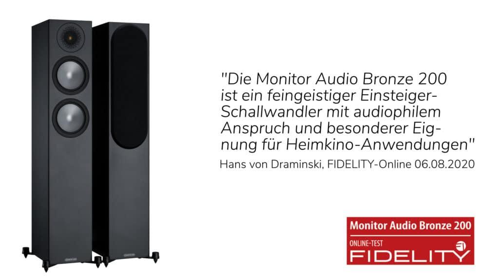 Monitor Audio Bronze 200 Online-Test FIDELITY