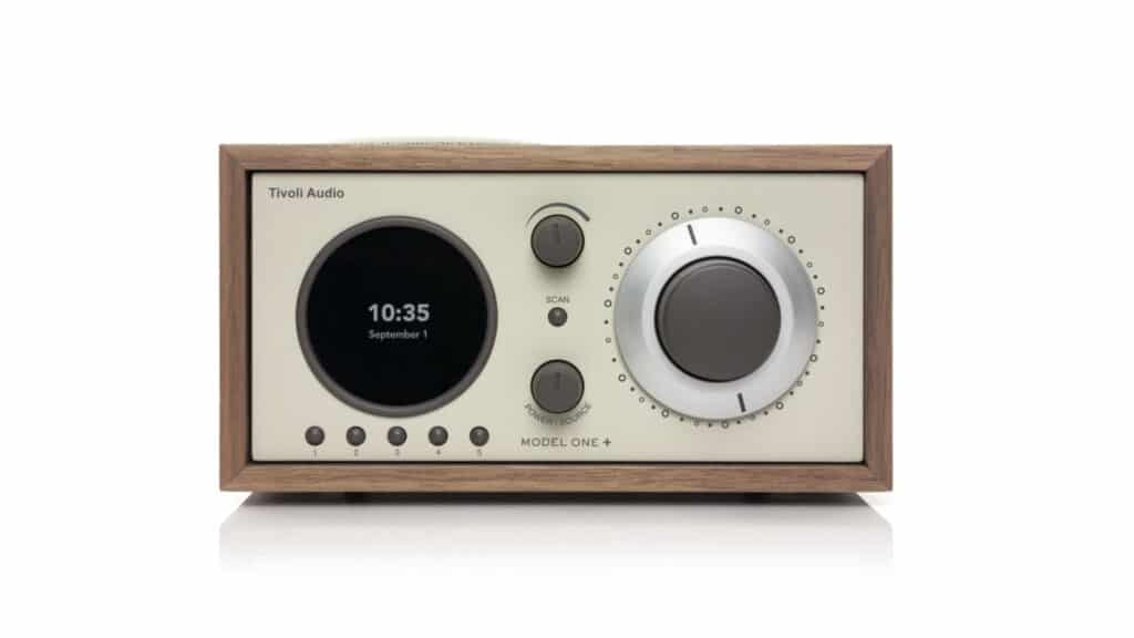 Tivoli Audio Model One+ Front in Classic Walnut