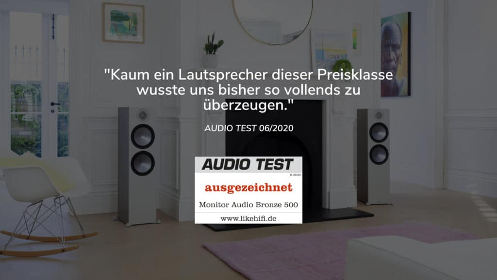 Monitor Audio Bronze 500 AUDIO TEST 06-2020