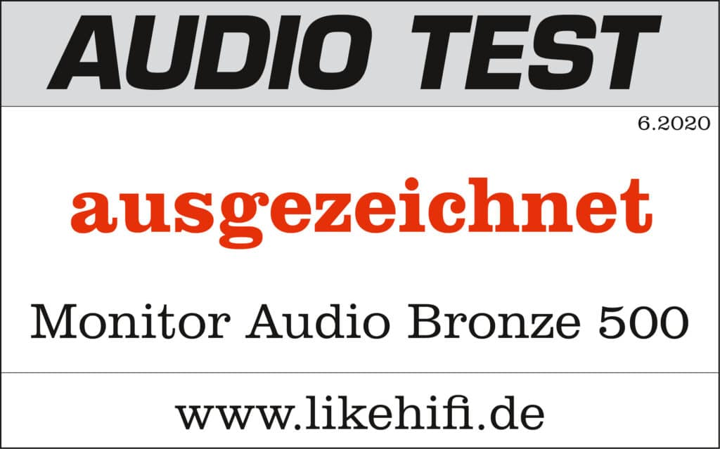 Testsiegel Monitor Audio Bronze 500