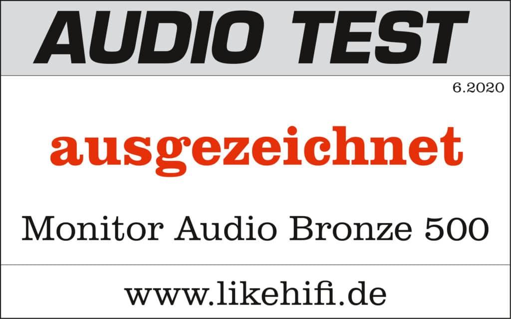 Testsiegel Monitor Audio Bronze 500