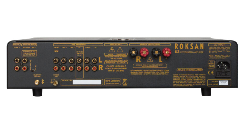 Roksan K3 Verstärker Rückseite