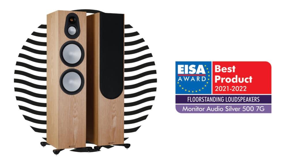 Monitor Audio Silver 500 7G Ash mit EISA Standlautsprecher-Award 2021-2022